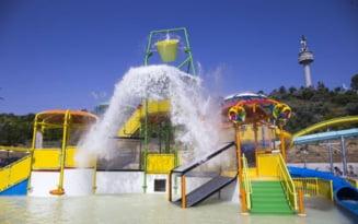 Imagini de la deschiderea celui mai nou si spectaculos aquapark din Romania, situat pe malul Dunarii VIDEO