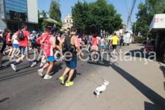 Imagini de la eveniment Un barbat, alergare alaturi de catelul sau la Crosul Ziua Olimpica, de la Constanta! (galerie foto)