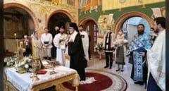 Imagini inedite de la botezul fetitei Printului Nicolae, nepotul Regelui Mihai VIDEO