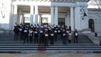 Imagini inedite de la protestele magistratilor (Foto). Ce instante si parchete isi suspenda activitatea sau recurg la alte forme de revolta