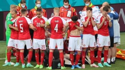 Imagini memorabile: cum au reactionat fanii celor doua nationale dupa criza cardiaca a lui Eriksen VIDEO