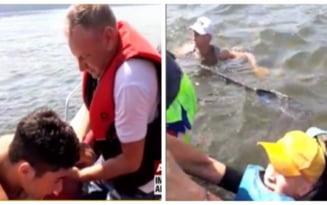 Imagini socante pe Dunare. O salupa a lovit si sectionat un caiac in care se aflau 4 copii - VIDEO