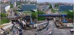 Imagini spectacol, pe repede-inainte, cu operatiunea de strapungere de la Pasajul Jiul din Timisoara! VIDEO!