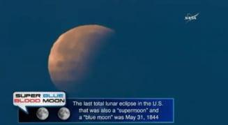 Imagini spectaculoase cu Super Luna albastra sangerie (Foto & Video)