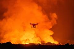 Imagini spectaculoase cu eruptia unui vulcan, filmata dintr-o drona (Video)