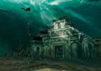 Imagini uimitoare cu un vechi oras din China, aflat pe fundul unui lac (Video)