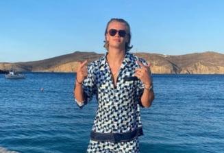 Imagini unice din Mykonos. Erling Haaland s-a dezlantuit in vacanta. Un alt super-fotbalist e alaturi de el VIDEO