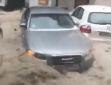 Imaginile dezastrului din Madrid: O furtuna violenta a luat zeci de masini pe sus (Foto&Video)