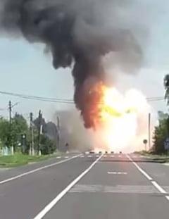 Imaginile dezastrului exploziei de la Mihailesti (Video)