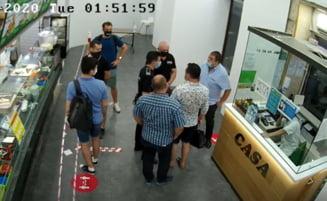 Imaginile din saormeria din Bucuresti in care cei doi deputati PSD s-au certat cu politistii. Parlamentarii au fost amendati din nou, pentru nepurtarea mastilor