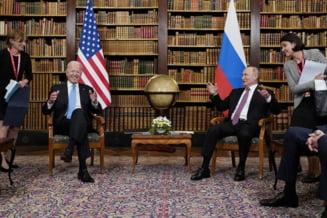 Imbranceli intre jurnalisti si forte de securitate in deschiderea summitului Biden-Putin. Casa Alba dezminte ca Biden ar fi sugerat ca are incredere in Putin