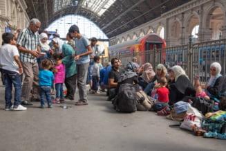 Imigrantii au blocat gara din Budapesta
