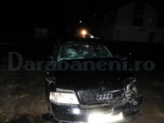 Impact Audi-Mercedes provocat la iesirea din Darabani de un sofer putin beat!