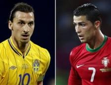 """In asteptarea barajului: duel """"cu calcaiul"""" intre Ronaldo si Ibrahimovici (Video)"""