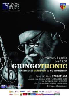 """In data de 5 aprilie, la Teatrul """"Anton Pann"""", Concert cu interpretul de blues AG Weinberger"""