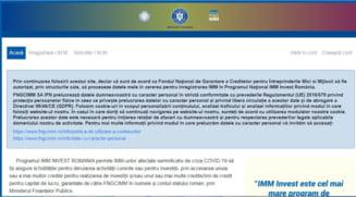 In doua ore si jumatate de la deschiderea IMM Invest Romania s-au primit peste 7.400 cereri