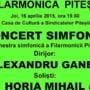 In muzica, totul e unic, irepetabil... Diseara, Filarmonica Pitesti va invita la un concert - eveniment