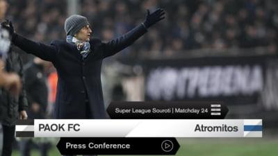 Inca un pas spre titlu! PAOK Salonic se duce la 10 puncte distanta de Olympiakos