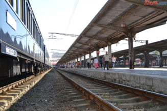 Inca un tren a deraiat in Hunedoara. Traficul se desfasoara cu restrictii