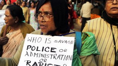 Inca un viol in grup socheaza India: Printre suspecti se numara si politisti