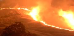Incendii puternice in California. Un pompier a fost ucis in lupta cu flacarile