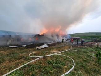 Incendiu în incinta Mănăstirii Dumbrava. Focul a distrus grajdul lăcașului de cult VIDEO