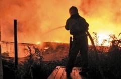 Incendiu de proportii din cauza cazanului de tuica