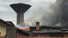 Incendiu devastator la depozitul Leonardo din Oradea