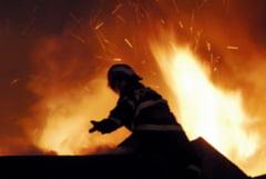 Incendiu in curtea Spitalului din Mangalia