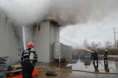 Incendiu la o hala in Unirea!