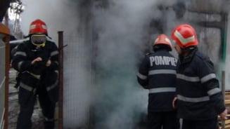 Incendiu la o societate din Horezu provocat de un aparat de sudura