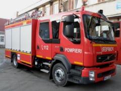 Incendiu la un bloc de pe Calea Dorobantilor din Bucuresti