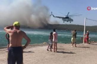 Incendiu masiv la Bodrum, cea mai exclusivistă stațiune a litoralului turcesc. Flăcările au ajuns la hoteluri și turiștii sunt evacuați