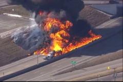 Incendiu pe autostrada! Un TIR a luat foc!