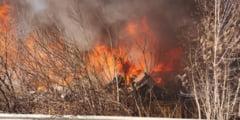 Incendiu puternic in Voluntari (Foto&Video). Populatia a fost avertizata prin RO-Alert sa stea in casa UPDATE