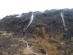 Incendiu puternic la groapa de gunoi Rampa Rates din Tecuci