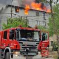 Incendiu puternic la o vila din Eforie Sud. Arde acoperisul pe o suprafata de 200 metri patrati VIDEO