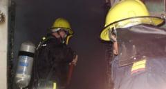 Incendiu violent la Simionesti
