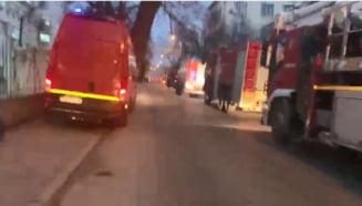 """Incendiul de la """"Matei Bals"""". O pacienta COVID cu arsuri a fost transferata la Spitalul Universitar, alti doi au ajuns la Spitalul Floreasca"""