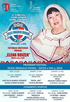 """Incep Zilele orasului Ovidiu si Festivalul Cantecului Popular """"Elena Roizen"""""""