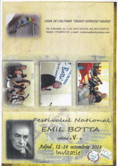 Incepe Festivalul National Emil Botta; vor avea loc lansari de carte si concurs de poezie