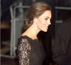 Incepe sa i se vada burtica: Kate Middleton, pe covorul rosu (Foto)