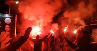 Incidente grave in fata hotelului lui Ionut Negoita: Fanii lui Dinamo au protestat dupa demiterea lui Mircea Rednic