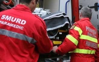Incidente in judetul Iasi: autoturism ars in Esibanesti si accident in Strunga