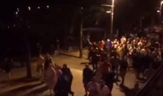 Incidente la Budapesta, inaintea meciului cu Romania - huliganii s-au incaierat cu politia (Video)