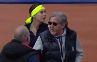 Incidente la meciul de Fed Cup: Ilie Nastase, escortat de fortele de ordine in afara arenei, Konta a plans in hohote pe teren (Video)