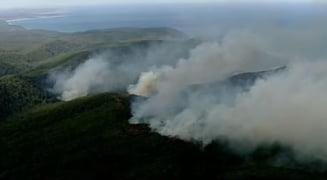 Infern in ziua de Craciun in Australia: Zeci de case facute scrum din cauza incendiilor de vegetatie (Video)