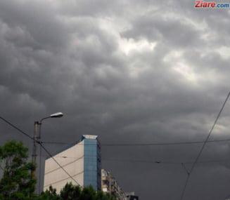 Informare meteo de vreme rea pentru toata tara pana sambata: Ploi, vant puternic si frig