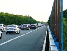 Infotrafic: Valori crescute de trafic pe sensul catre Bucuresti al autostrazii A2, in zona localitatii Lehliu-Gara