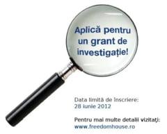 Inscrie-te in concursul pentru jurnalisti de investigatie! - mai sunt doua zile